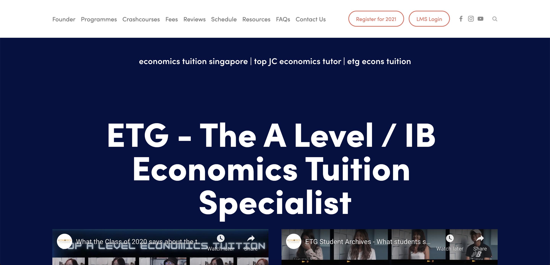 Tuition Genius Economics Tuition