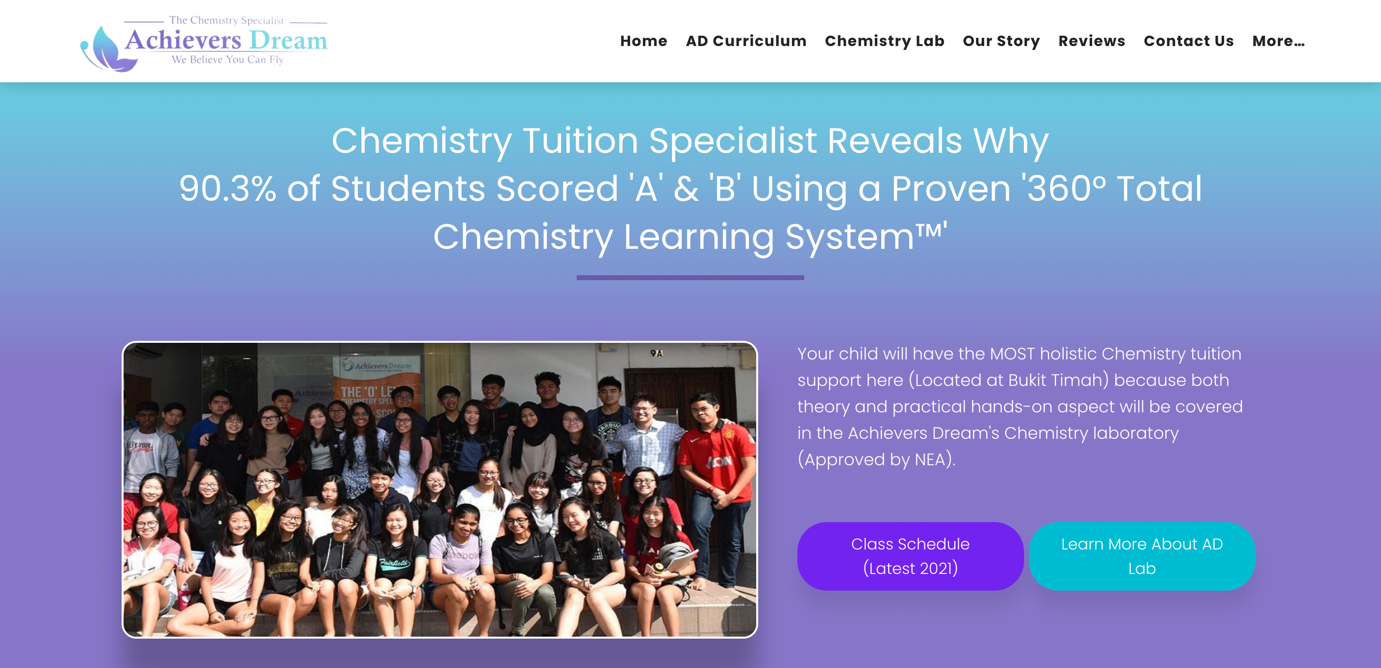 Achievers Dream Chemistry Specialist IP Tuition
