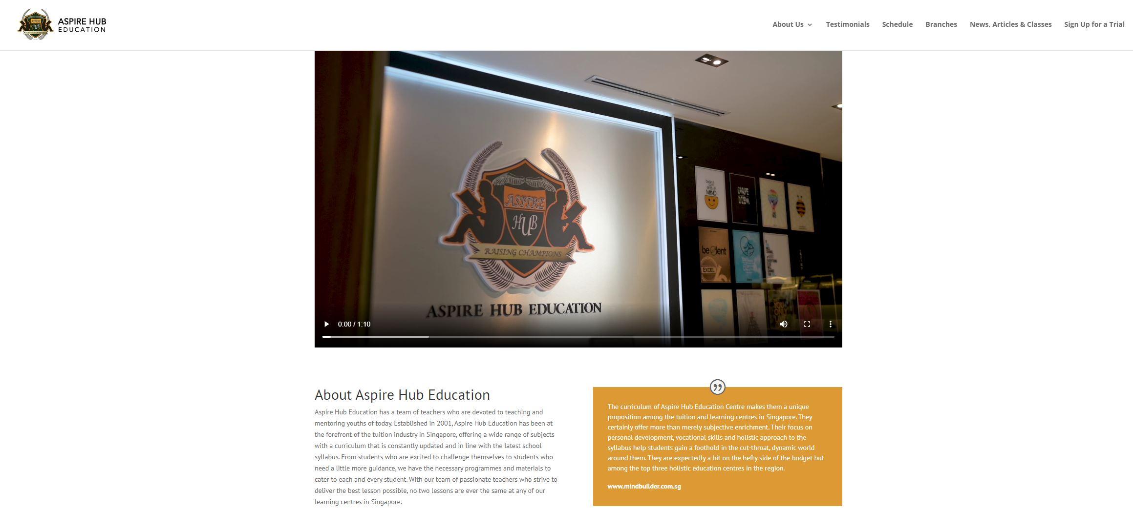 Aspire Hub Education IB Tuition
