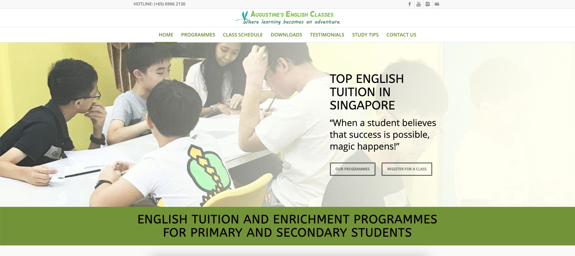 Augustine's English Classes Primary School Tuition