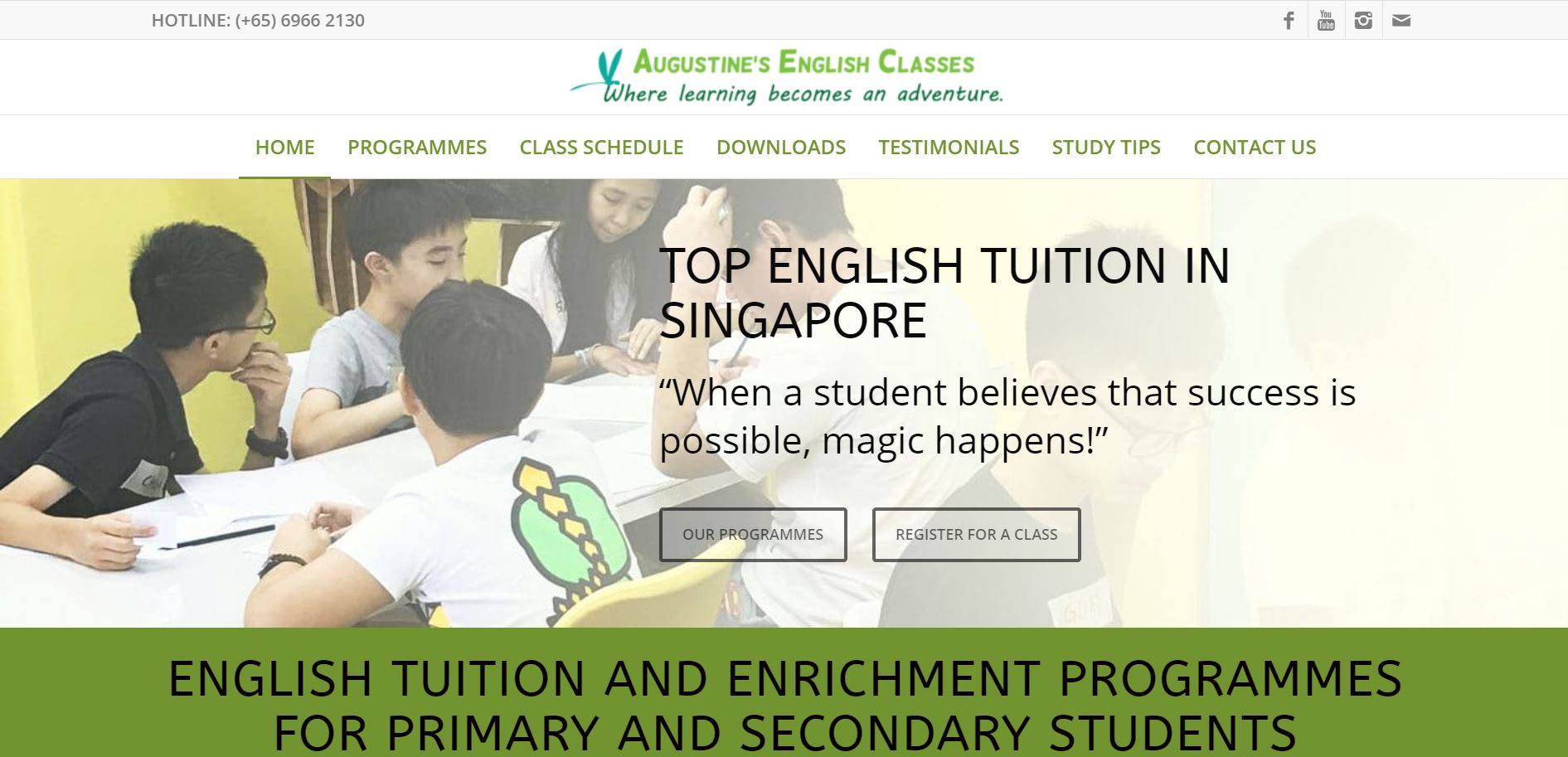 Augustine's English Classes Secondary School Tuition