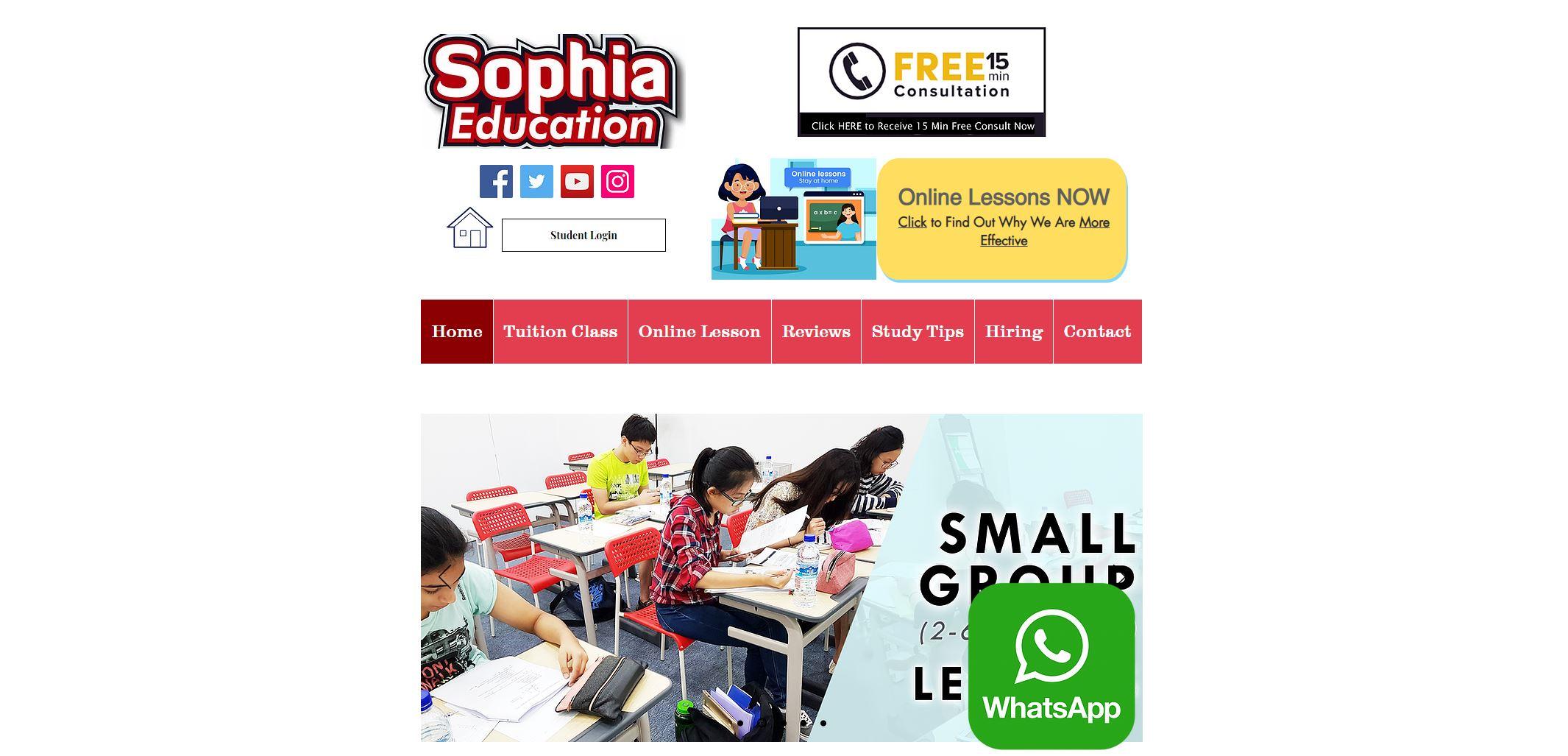 Sophia Education JC Tuition