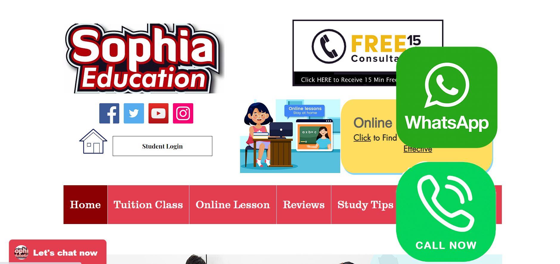 Sophia Education Secondary School Tuition