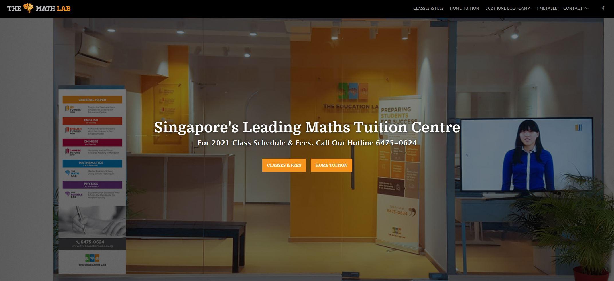 The Math Lab JC Tuition