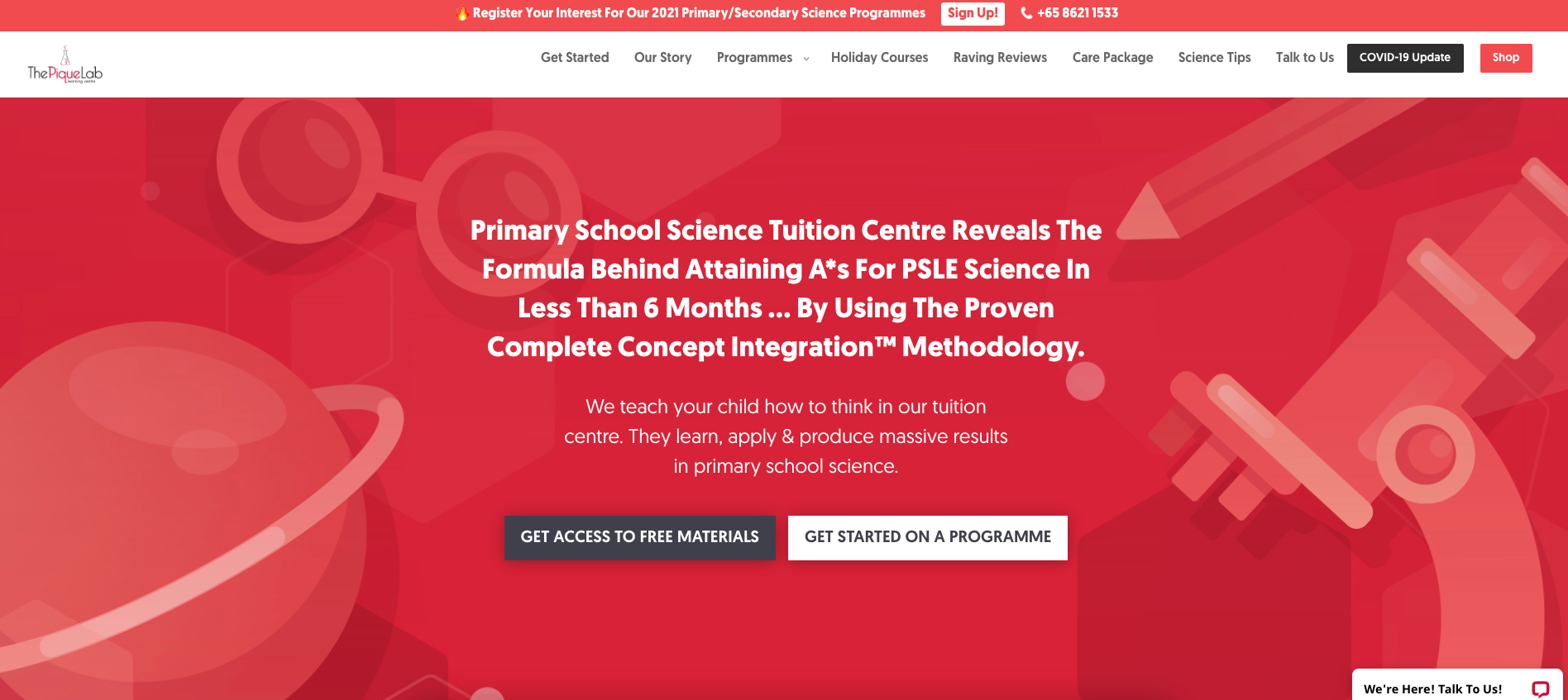 The Pique Lab Primary School Tuition
