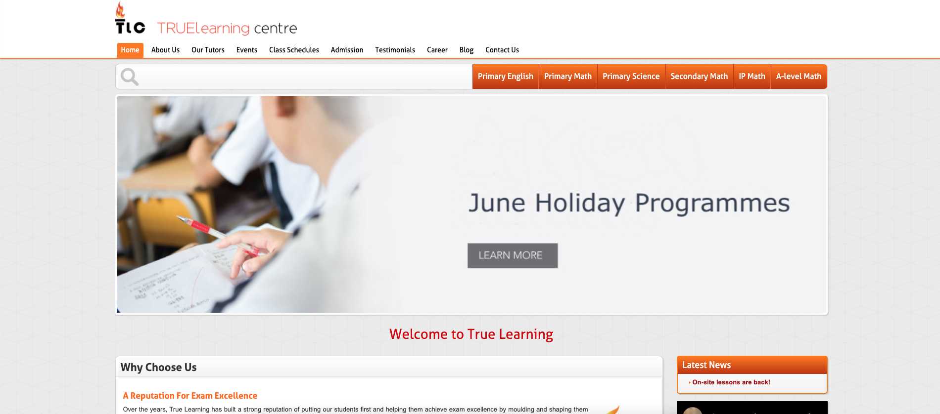 True Learning Centre Primary School Tuition