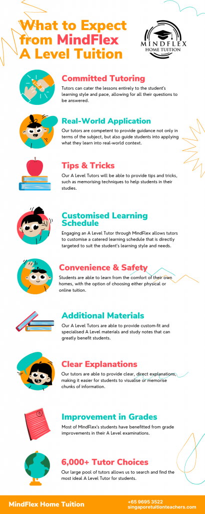 Infographic on What To Expect From MindFlex A Level Tutors