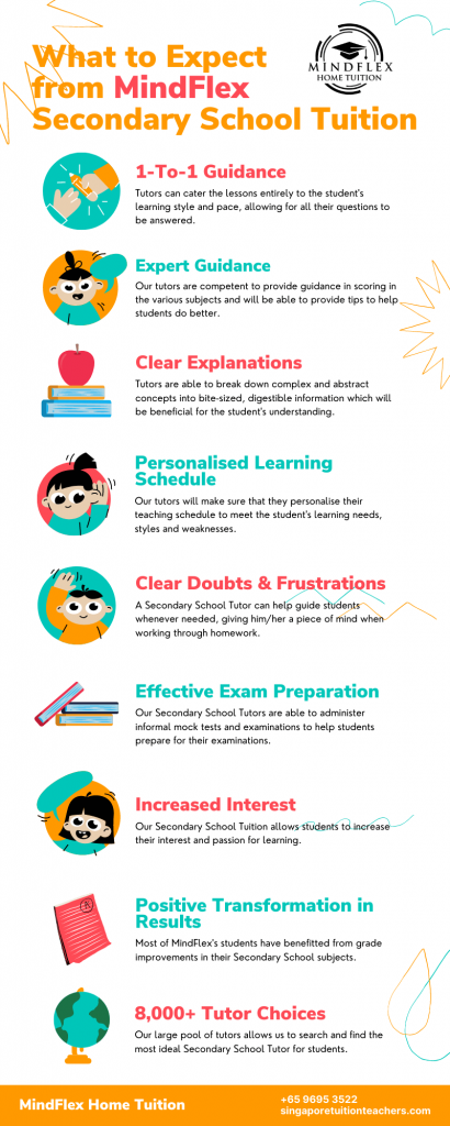 Infographic on What To Expect From MindFlex Secondary School Tutors
